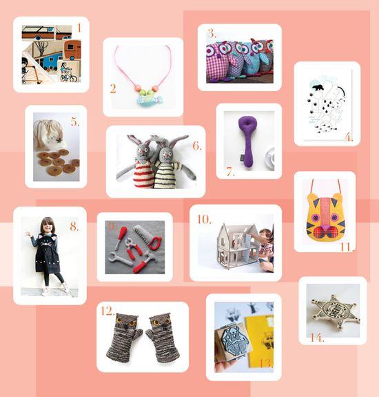 Handmade gifts  BloesemKids Gift Guide 2011