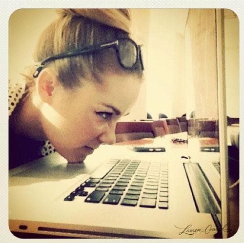 Lauren Conrad's writing and editing process