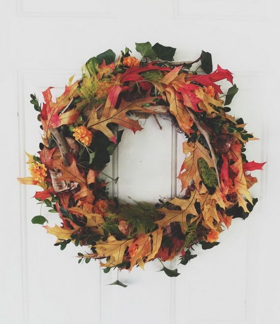 Do It Yourself Fall Wreath - Hang your DIY Fall Wreath on your door!