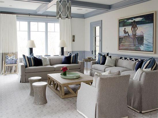 gorgeous home located in a suburb of Boston was designed by Noelle Micek of An Organized Nest and Tricia Roberts Design and was beautifully captured by photographer Jamie Salomon.