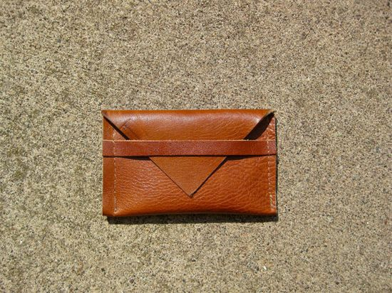 business card holder - cognac leather
