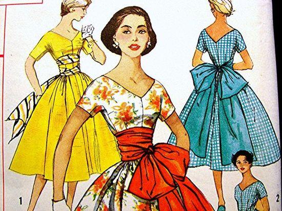 Vintage 1950s Dress Pattern Rockabilly by PatternsFromThePast
