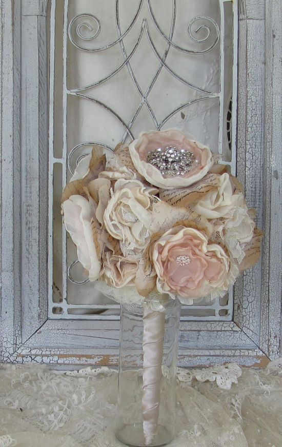 Wedding Bouquet Rhinestones Vintage by BurlapandBlingStudio, $150.00