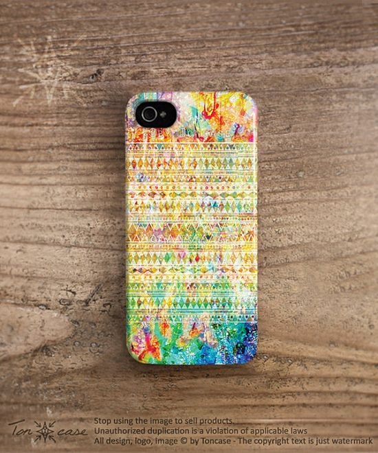 Aztec iphone 5 case colorful tribal pattern iphone 4 case plastic iphone 4 case watercolor ombre native iphone 5 case hipster ethnic /c36