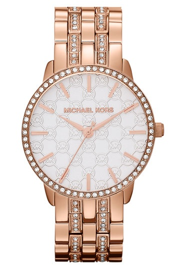 Michael Kors 'Lady Nini' Round Bracelet Watch available at #Nordstrom