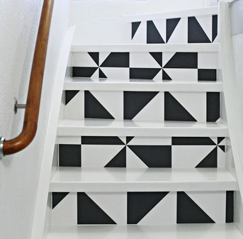 Painted stairs...
