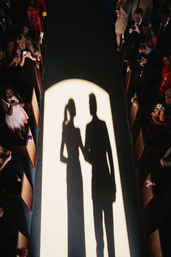 wedding ceremony shadows // photo by LoveKatieAndSarah...