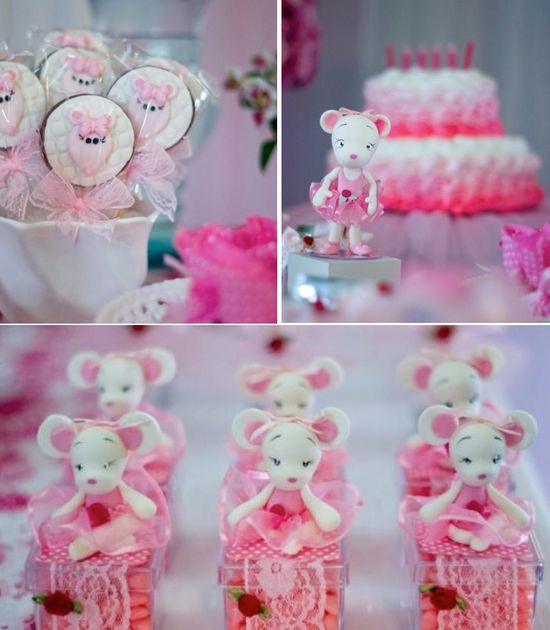 Angelina Ballerina Birthday Party via Kara's Party Ideas karaspartyideas.com #angelina #ballerina #ballet #themed #birthday #party #ideas #cake #desserts