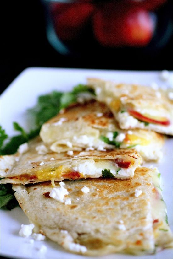 summer fruit quesadilla