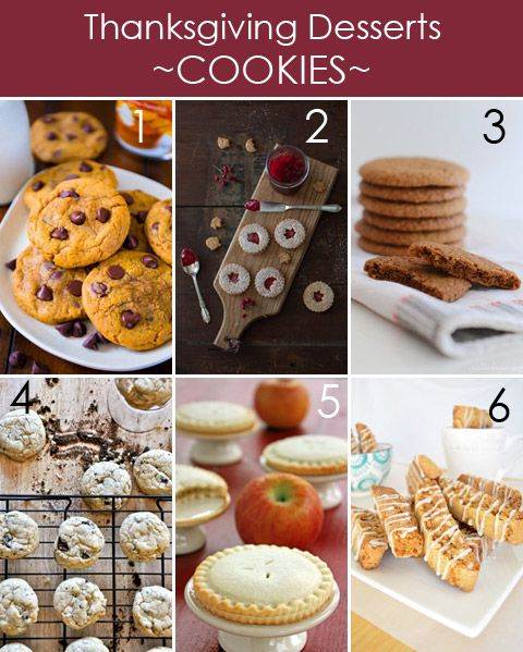 Thanksgiving Cookies plus 20 other Thanksgiving desserts