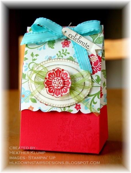 Stampin Up Fresh Vintage little bag