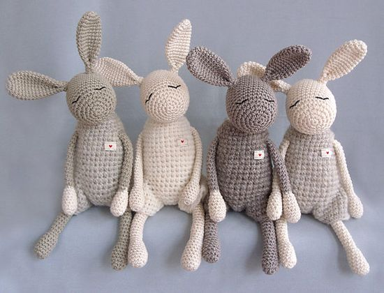 These soft bunnies make perfectly cozy, comforting friends