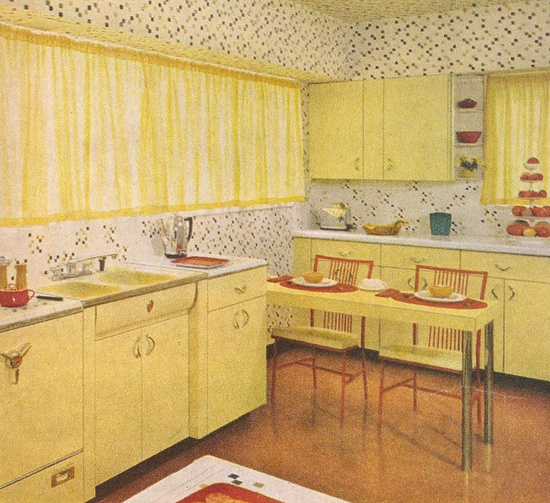 Better Homes & Gardens Decorating Book 1961 - I LOVE this kitchen!