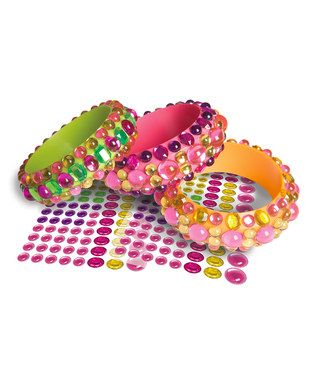 Sparkly gem-stone stickers for DIY fashion bracelets - on offer at Zulily, and great for stocking fillers!  #spon