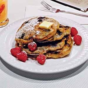 Amp up your breakfast with these Crunch-Berry Pancakes!