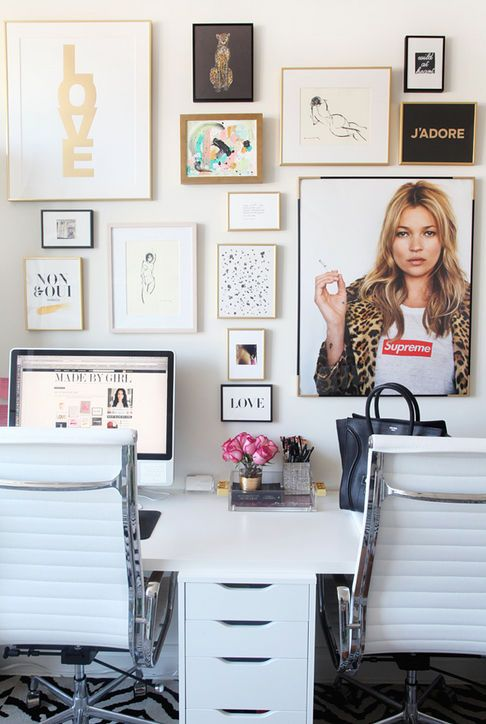 Home office minus Kate Moss looking at me all day.