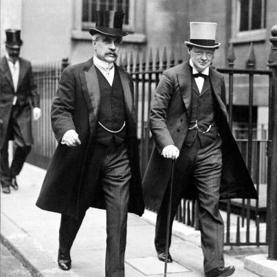 Robert Borden y Winston Churchill 1923. British style