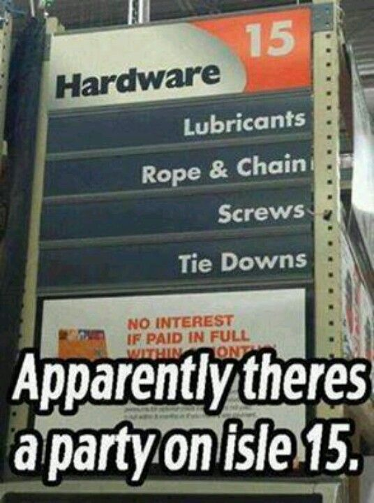 ...lol...I love Home Depot! I could walk around in there all day and not get bored!