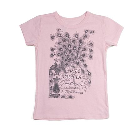 Pride and Prejudice child's tee from the original book cover