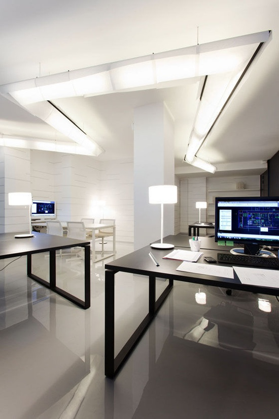 Sleek Modern Office Room Interior Design Pictures