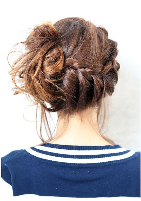 side braid to around back