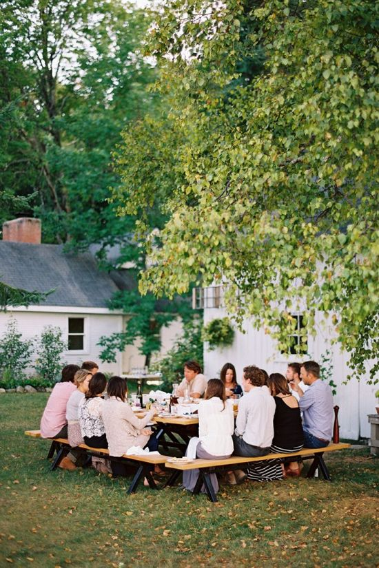 Perfect outdoor dinner party