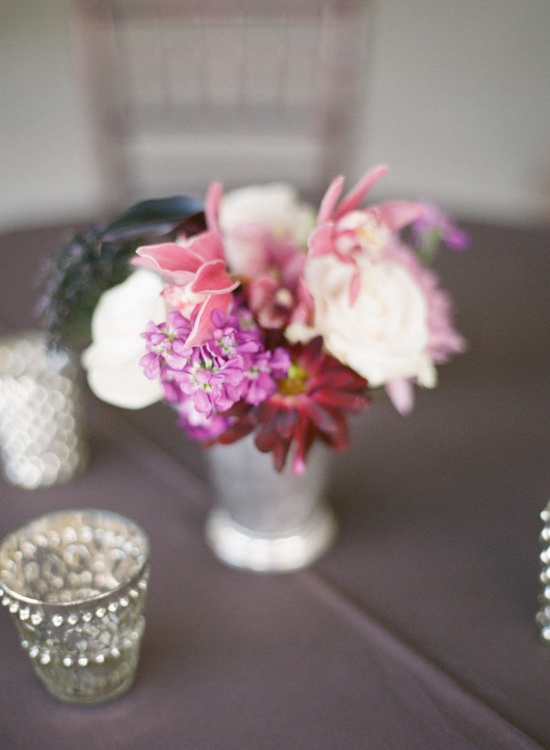 such vivid colors in this little centerpiece  Photography By / emilysteffen.com, Wedding Coordination By / doorcountyevents.com, Floral Design By / doorcountyflowers...