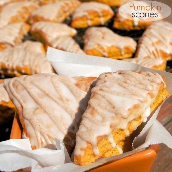 Pumpkin Scones: copycat Starbucks pumpkin scones, better than the real thing! Freeze well too