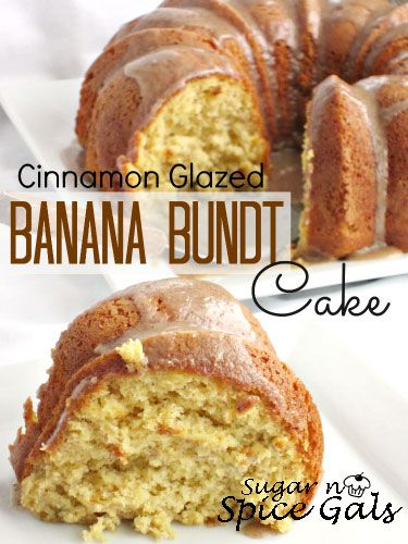 Cinnamon Glazed Banana Bundt Cake on MyRecipeMagic.com