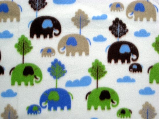 Elephant Safari Fleece Fabric 1 yard plus (53 inches) sold by NewEnglandQuilter, $12.00 #promofrenzy