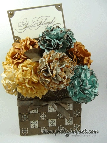 Paper Flowers in a Paper Basket