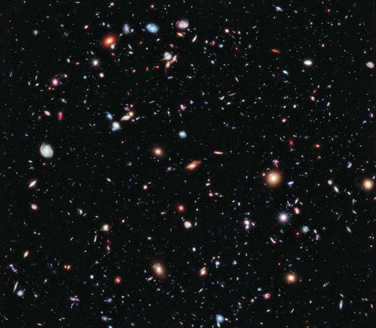 Called the Hubble Extreme Deep Field, it's a combination of 2,000 separate exposures by the orbiting observatory for a total of over two million seconds, or 23 days!
