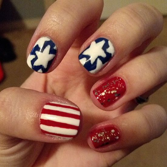 samilovessyou's festive tips. Show us your 4th of July-inspired nails! Tag your pic #SephoraNailspotting to be featured on our social sites.