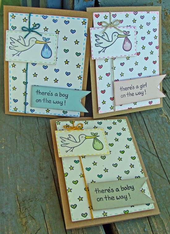 Baby on the Way Hand-Stamped Greeting Card