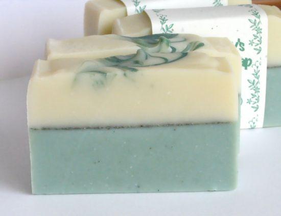 Soap Green Cactus Handmade Soap Layered Soap