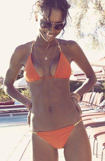 Red hot bikini.