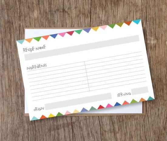 free printable recipe cards! #free #printable