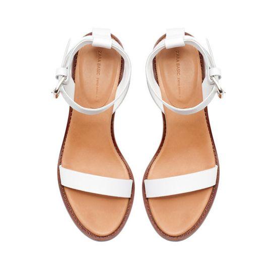 Block Sandal With Ankle Strap / Zara