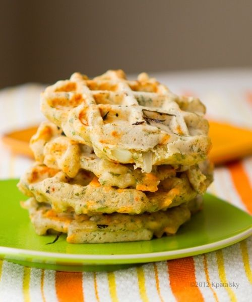 Savory Cheezy Herbed Waffles