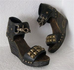Love these!!Studded leather platforms by Karen Kell
