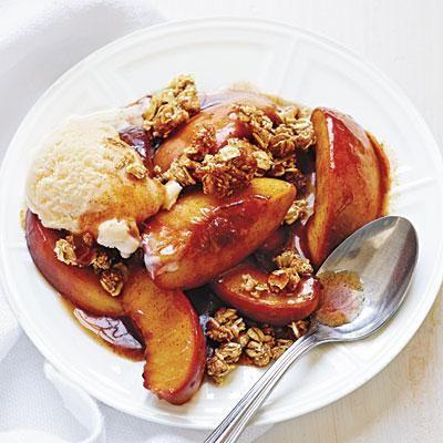 Easy Peach Crisps