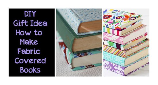 DIY Gift Idea: How to Make Fabric Covered Books #homeketeers #DIY #giftidea #gift #fabric #fabriccoveredbook