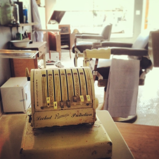 Old fashioned cash register at HCB