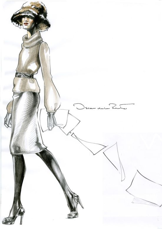 Papers. fashion illustration