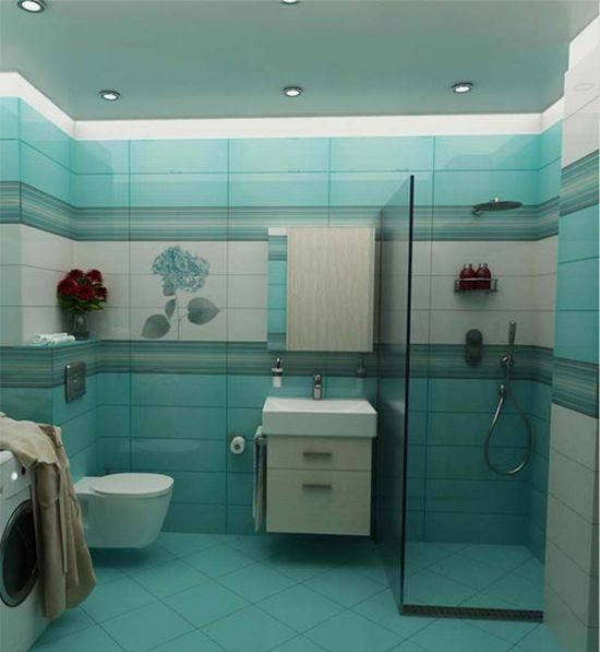 15 Bathroom Design Ideas Turquoise Color Dynamic....