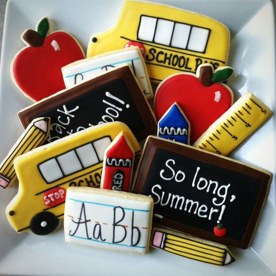 Back to School Decorated Cookie Set by BitesBakedGoods on Etsy, $42.00