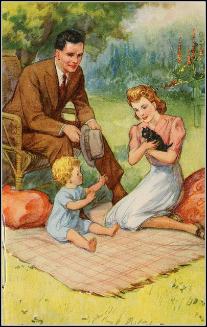 Ladybird book,  illustrated by P. B. Hickling, ca. 1950s