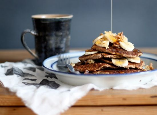 Gluten-free Vegan Banana Bread Pancakes