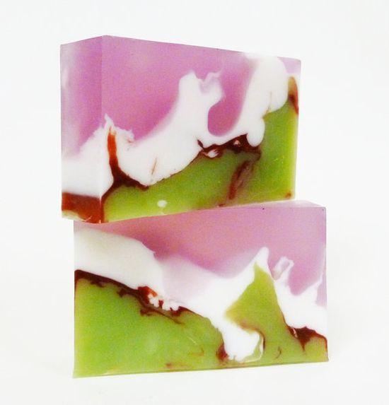 Cherry Blossom Soap by desertsoapstone  Look at that swirl of color! Gorgeous #soap #glycerin