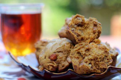 Pumpkin Spice Ginger Walnut Muffins by Emily Malone